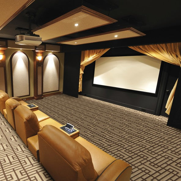 Affinity Home Theater Carpet Silver