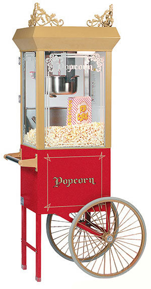 Antique Popcorn Popper Deluxe 6oz Popcorn Machine with Cart