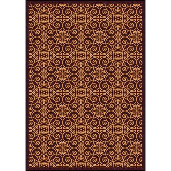 Antique Scroll Home Theater Rug