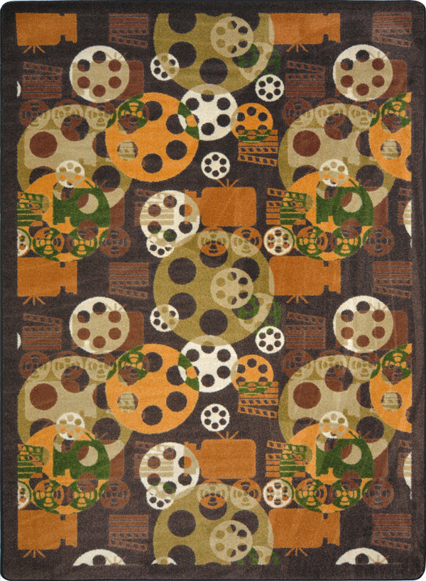 Blockbuster Home Theater Rug Brown