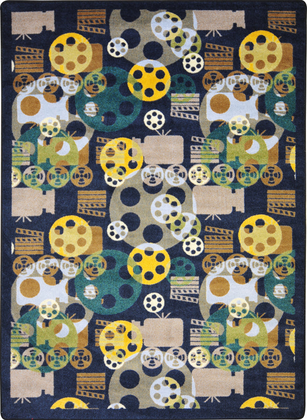 Blockbuster Home Theater Rug Blue
