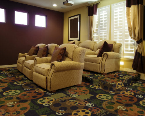 Blockbuster Home Theater Carpet Brown