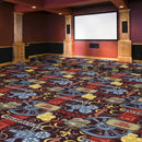 Camera Ready Home Theater Carpet Burgundy