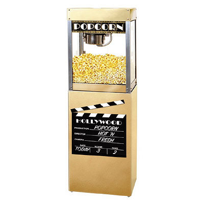 Cinema Style Popcorn Machine Hollywood Premiere Popper with Pedestal Base