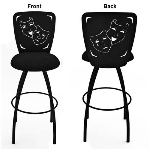 Comedy/Tragedy Masks Barstool Theatrical Laser Cut