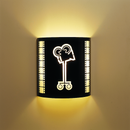 Camera Home Theater Wall Sconce Black with Filmstrip