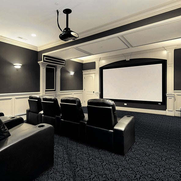 Damascus Home Theater Carpet Black