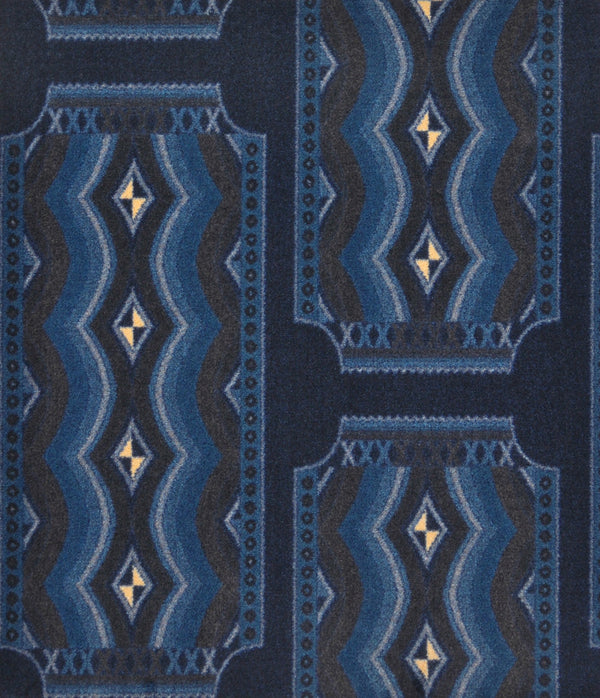 Deco Ticket Home Theater Carpet Blue