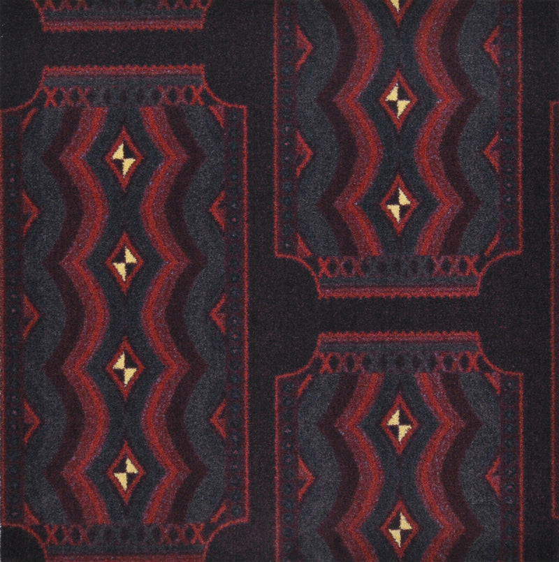 Deco Ticket Home Theater Carpet Burgundy