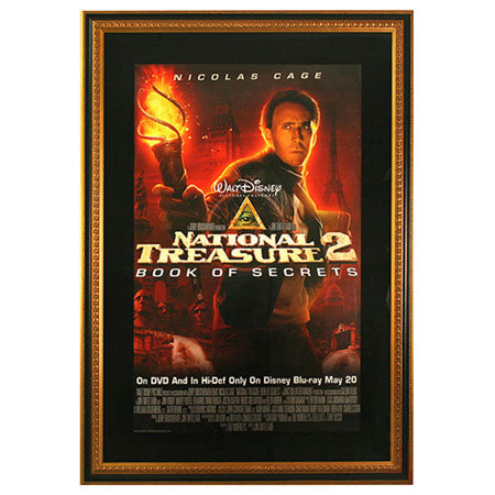 Designer Gold & Black Movie Poster Frame