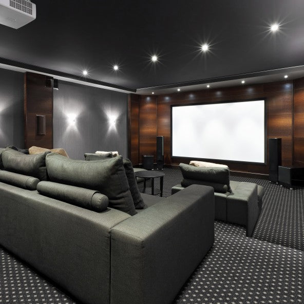 Diamond Lattice Home Theater Carpet