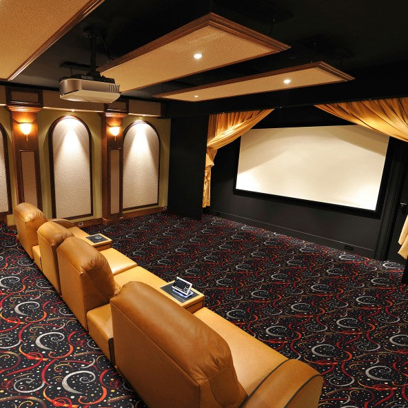 Double Down Home Theater Carpet Teal