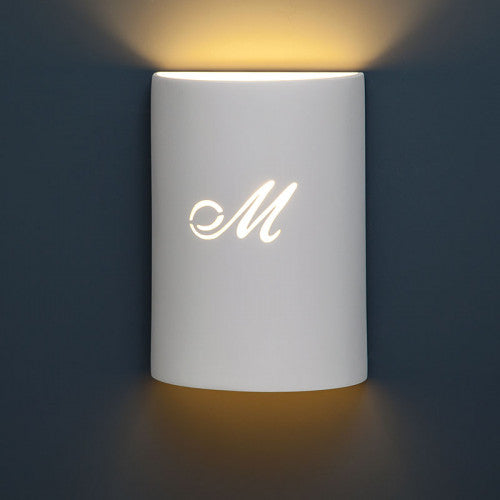 Personalized Cylinder Home Theater Wall Sconce 9""