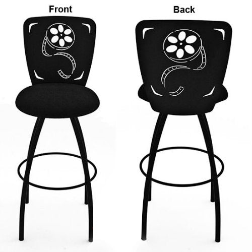 Film Reel Barstool Theatrical Laser Cut