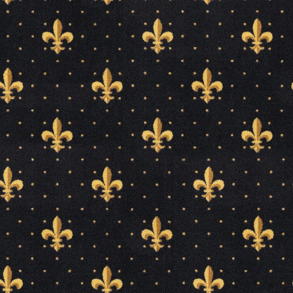 Fleur De Lis Home Theater Carpet Black