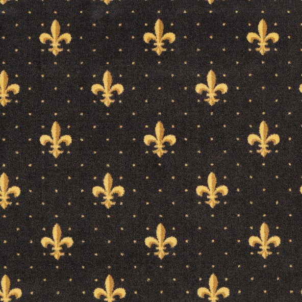 Fleur De Lis Home Theater Carpet Brown