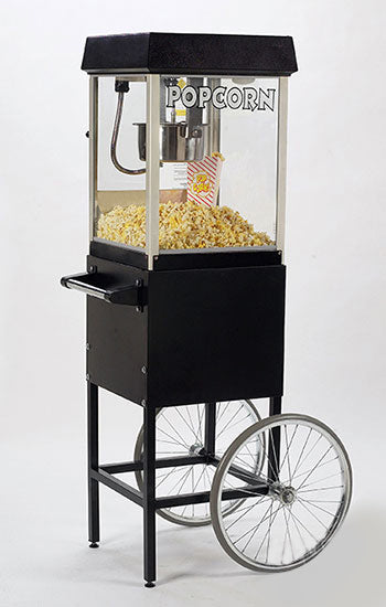 Fun Popcorn Popper 4oz Popcorn Machine with Cart Black