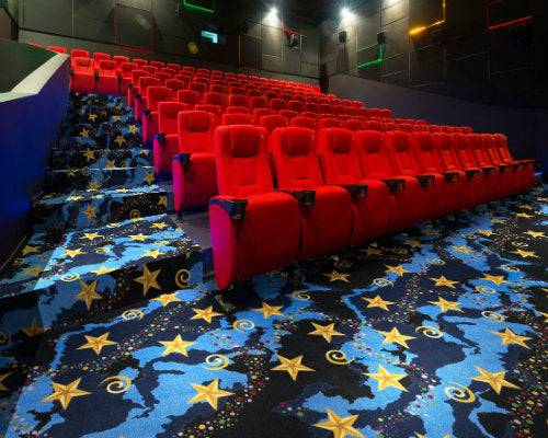 Galaxy Home Theater Carpet Multi-Colored
