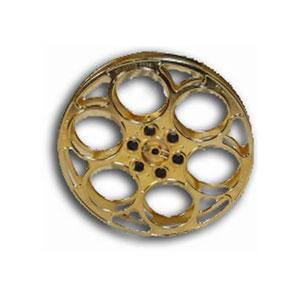 Gold Film Reel Genuine 35mm Goldberg Movie Reel