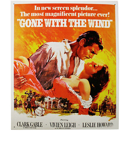 Gone With the Wind Metal Sign Artwork B