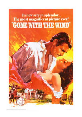 Gone With The Wind Montage Movie Poster