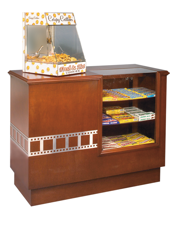 Hardwood Home Theater Concession Counter