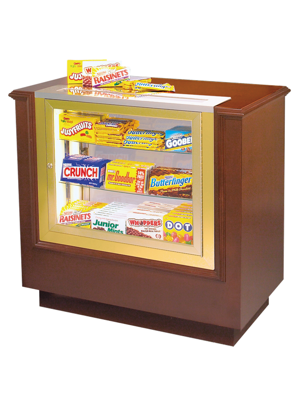 Home Theater Hardwood Concession Stand with Candy Case