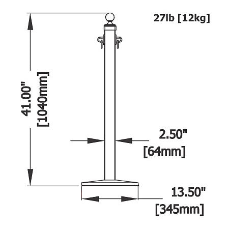 Hardwood & Iron Hitching Stanchion Home Theater Post