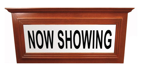 Hardwood Theater Marquee Sign with Crown