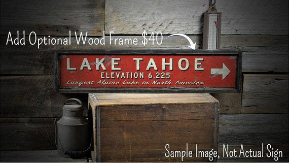 Drive-In Theater Sign Rustic Wood Horizontal
