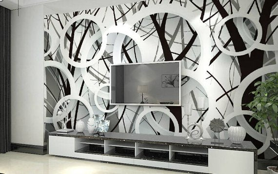 Circles Home Theater Wall Mural