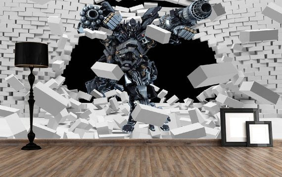 Big Robot Home Theater Wall Mural