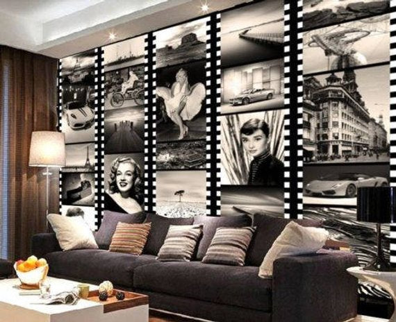 Hollywood Stars Home Theater Wall Mural