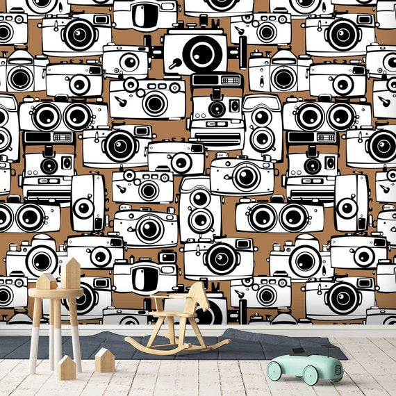 Cartoon Camera Home Theater Wallpaper