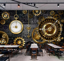 Clock Gears Home Theater Wall Mural