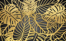 Golden Leaves Home Theater Wall Mural