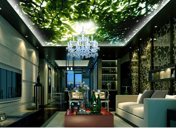 Tree Shade Home Theater Ceiling Mural