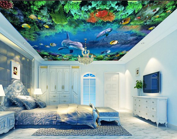 Under the Sea Home Theater Ceiling Mural