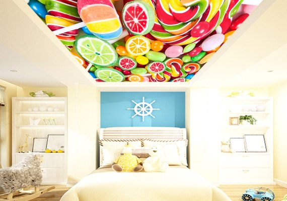 Candy Home Theater Ceiling Mural