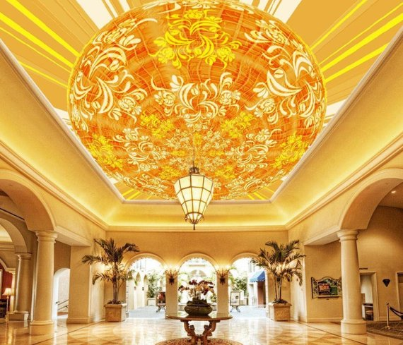 Lantern Home Theater Ceiling Mural