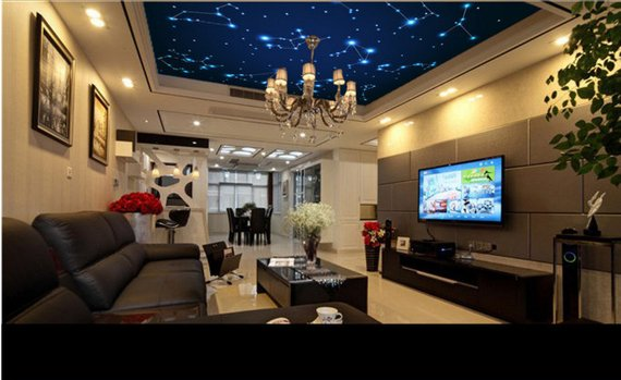 Fantasy Sky Home Theater Ceiling Mural