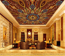 Art Red Home Theater Ceiling Mural