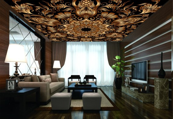 Vintage Home Theater Ceiling Mural