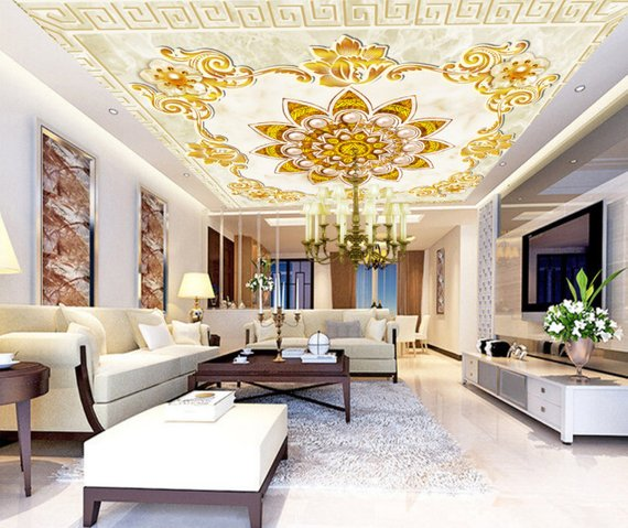 Pearl Decoration Home Theater Ceiling Mural
