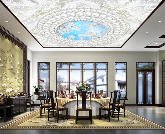 Skylight Window Home Theater Ceiling Mural