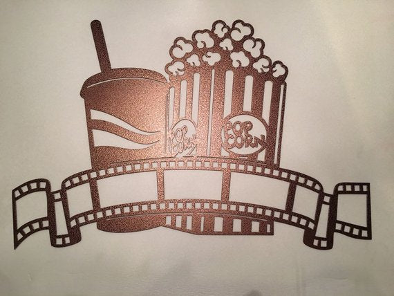 Movie Popcorn and Soda Metal Wall Decor