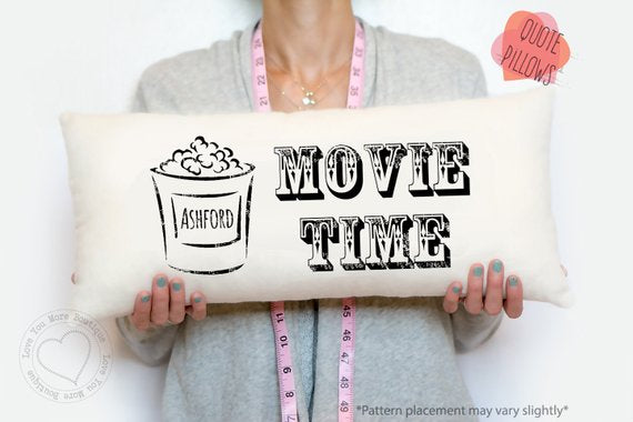 Personalized Movie Time Home Theater Pillow