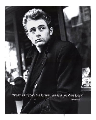 James Dean with Coat Poster