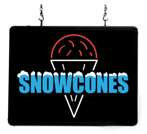 LED Snowcones Sign Ultra-Bright Benchmark 92003