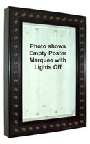 Lighted Movie Poster Light Box with Chase Lights